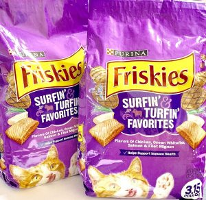 2 Bags of Friskies Surfin' & Turfin' Favorites Dry Cat Food