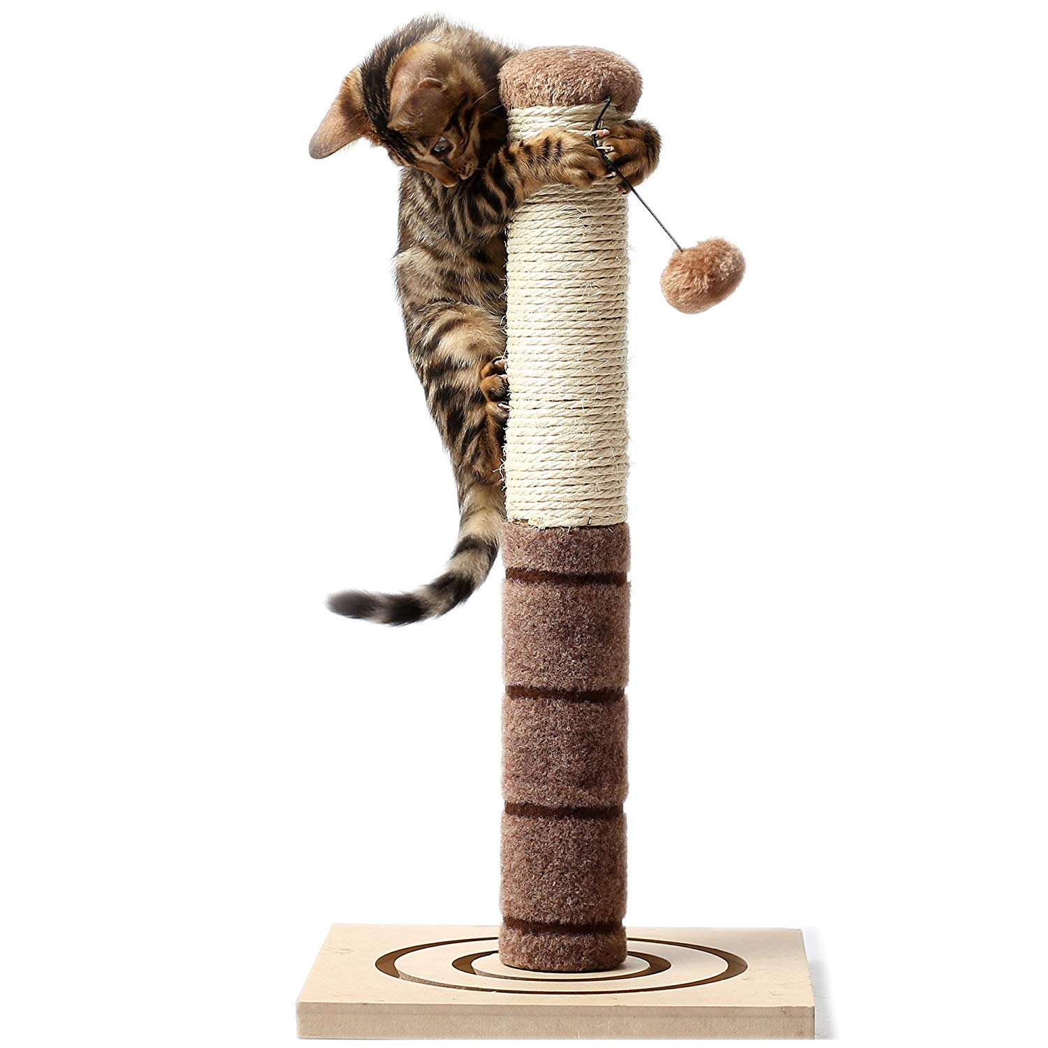 22 inches Tall Cat Scratching Post Cat Interactive Toys by 4 Paws Stuff