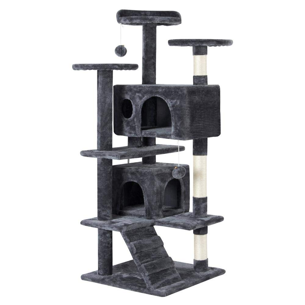 51 Inches Cat Tree Tower with Condo and PlayHouse By Yaheetech
