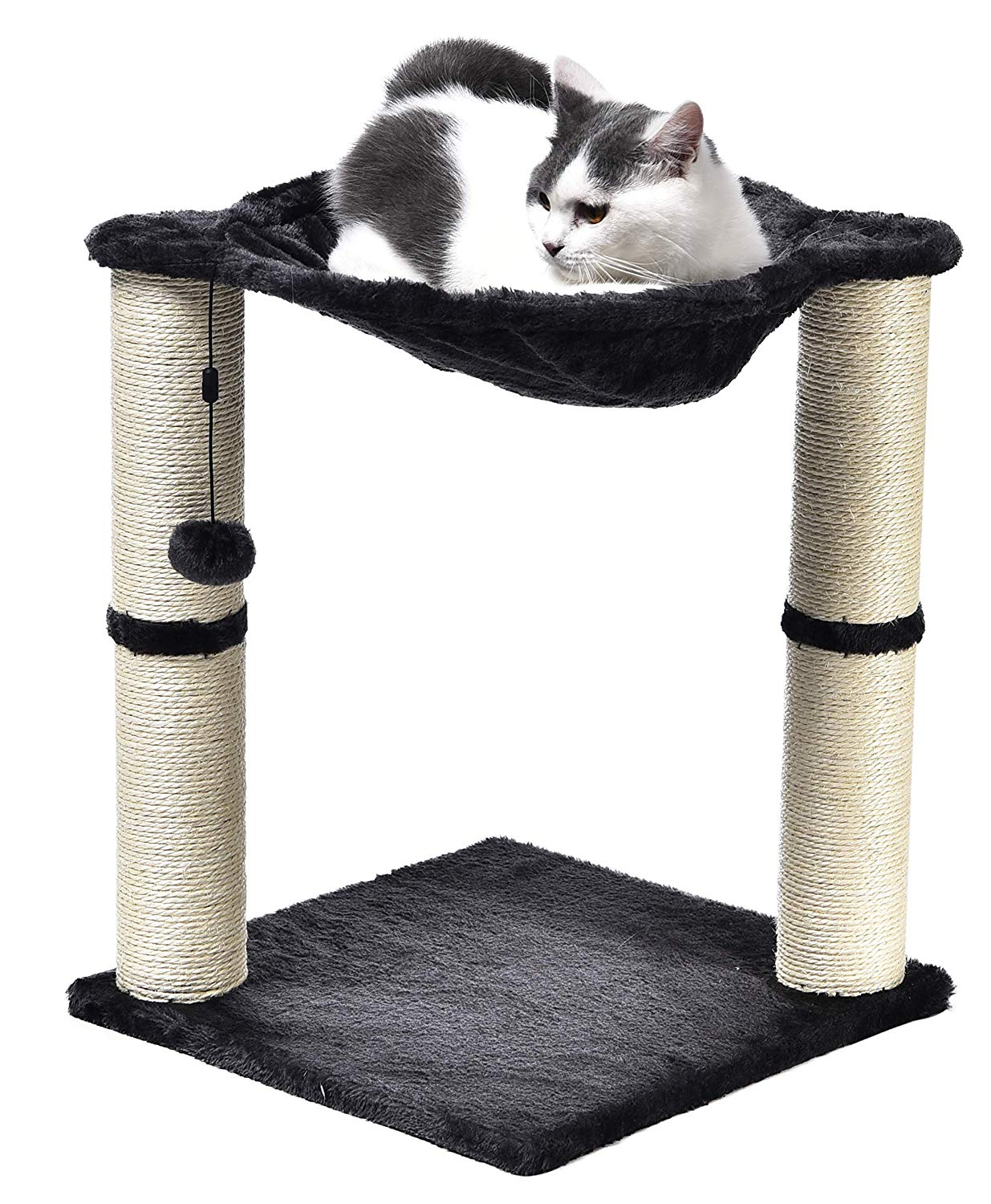 AmazonBasics Cat Scratching Post with Plush Hammock