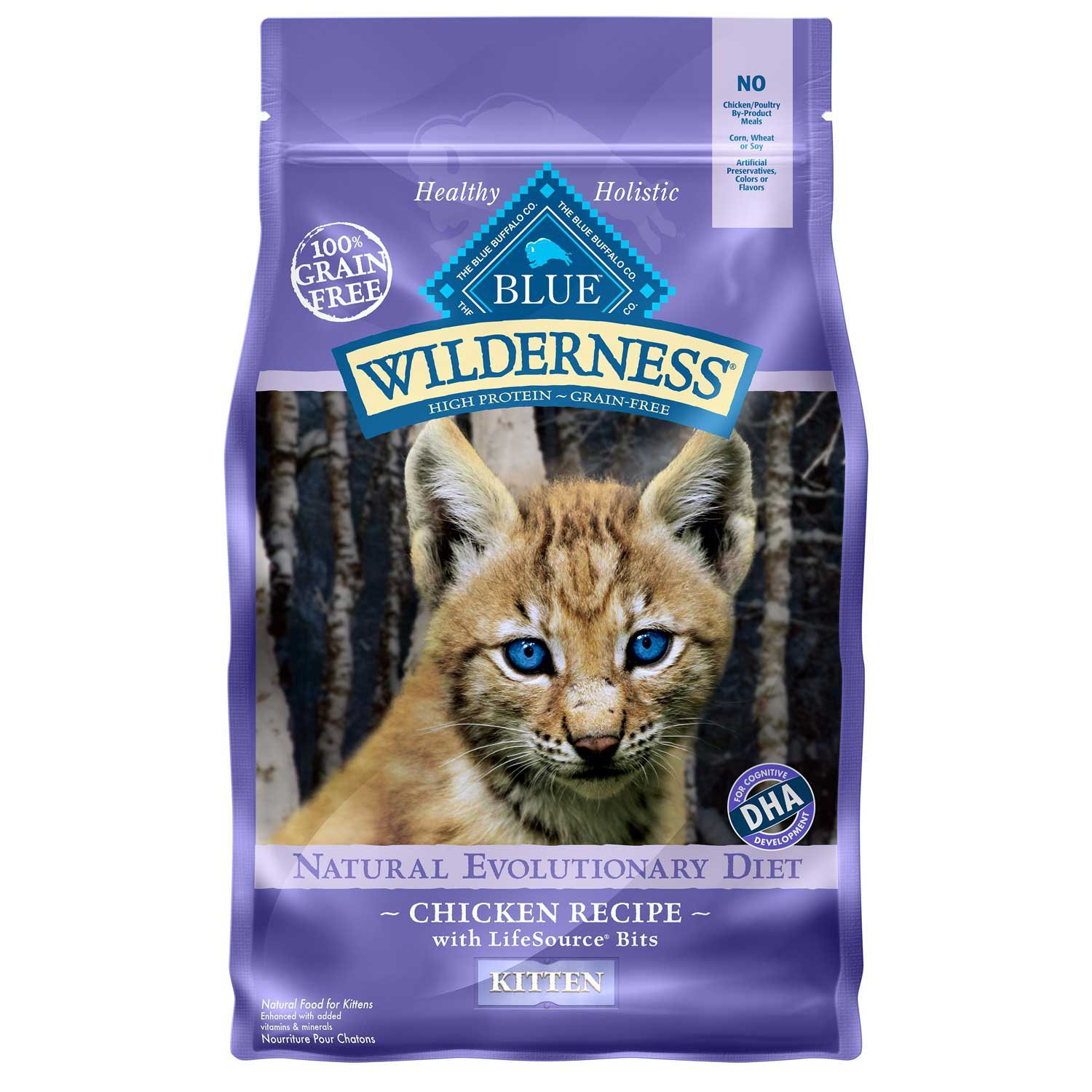 Blue Buffalo Wilderness High Protein Natural Kitten Dry Cat Food