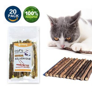 Cat Catnip Chewy Cats Molar Sticks Natural Silvervine by Vmiziv