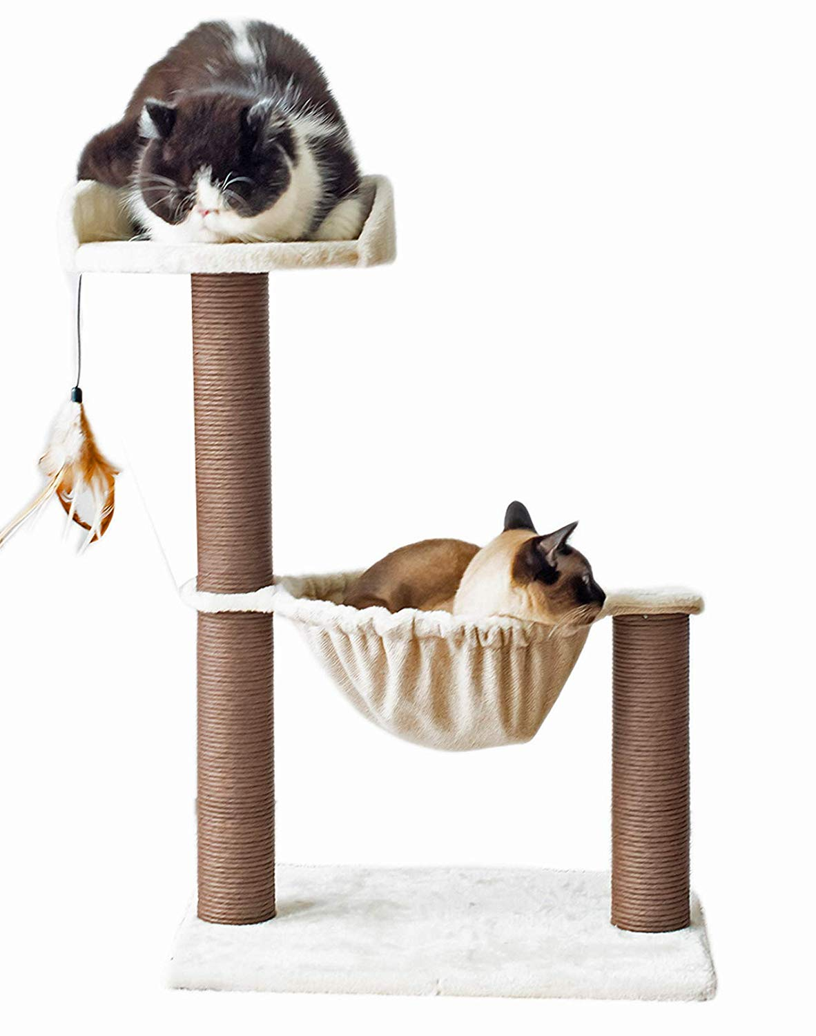 Catry Hammock Bed with Natural Sisal Scratching Posts