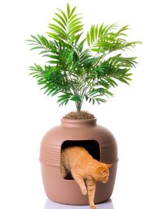 Claypot Design Hidden Cat Litter Box By Good Pet Stuff