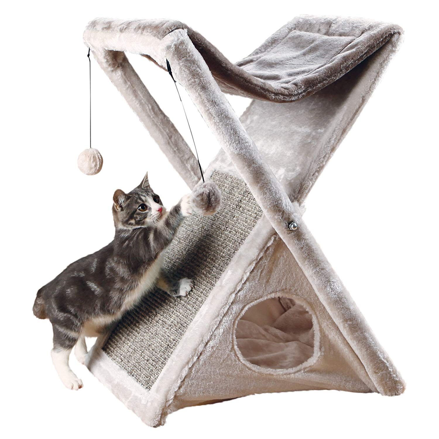 Compact Cat Scratcher, Condo & Hammock by Trixie Pet Products