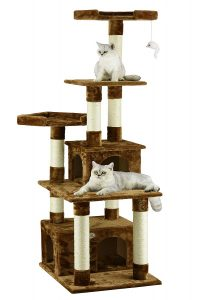 Elegant Cat Tree Condo and Scratcher By Go Pet