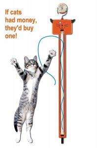 Fling & String Along Cat Toy By Moody Pet