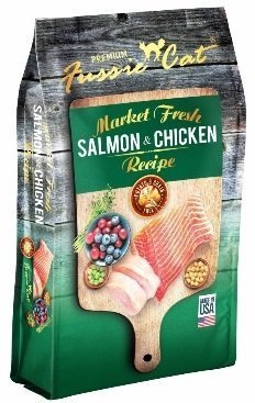 Fussie Cat Dry Cat Market Fresh Salmon Chicken Formula