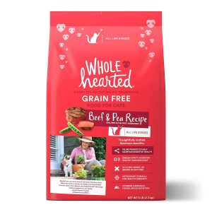 Grain-Free Dry Beef and Pea Recipe Cat Food by WholeHearted