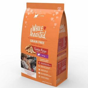 Grain-Free Dry Chicken Formula Cat Food by WholeHearted