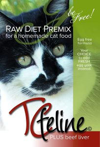 Grain Free Raw Cat Food Premix From Tcfeline With Beef Liver