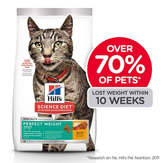 Hill's Science Diet Dry Cat Food For Weight Management