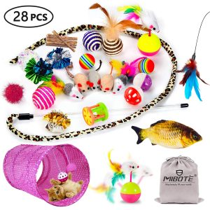 Jumbo 28 pcs Cat Toys Set With Storage Bag