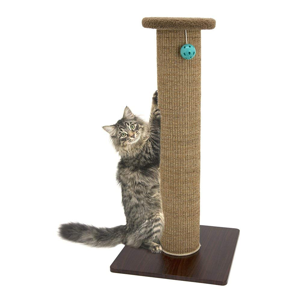 Kitty City Premium Scratching Post With Woven Sisal Carpet