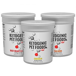 Pack of 3 Ketogenic Pet Foods Chicken, Salmon and Beef