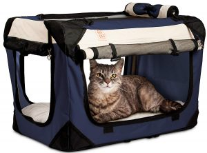 PetLuv Soft-Sided Foldable Cat Carrier with Side and Top Access