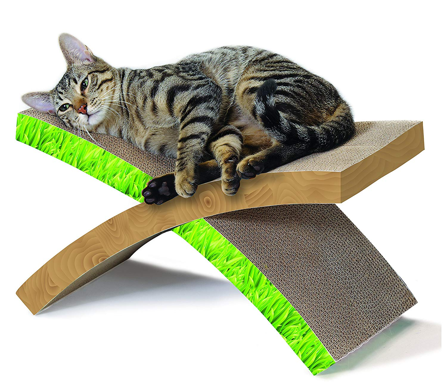 Petstages Foldable X-Shape Cat Scratcher & Hammock