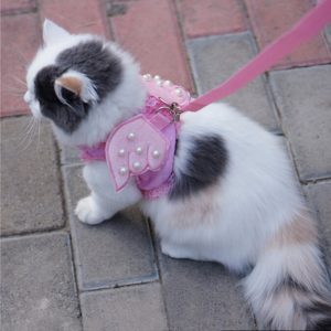 Pink Comfy Cat Safety Walking Vest By iPet