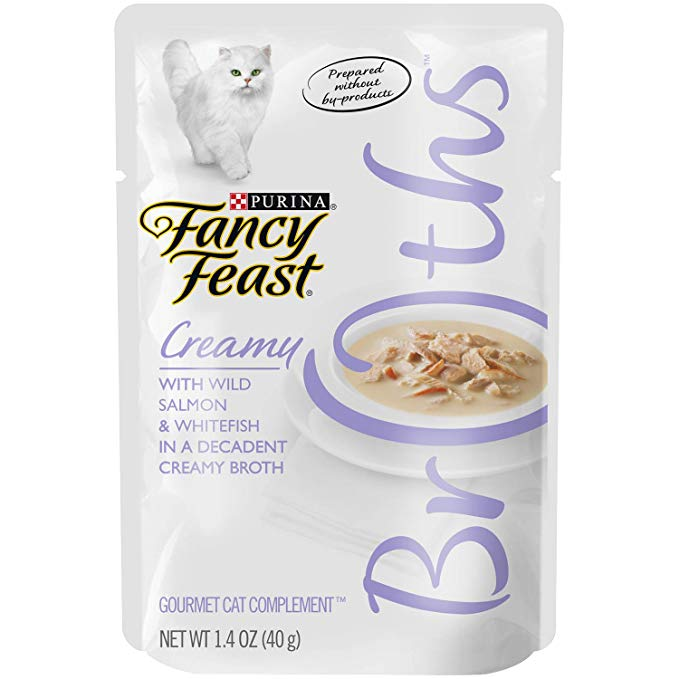 Purina Fancy Feast Broths For Cats With Wild Salmon And Whitefish