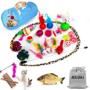 The Complete 29 pcs Cat Toys Set By Ailuki