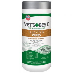 Tick And Flea Wipes For Cats And Dogs By Vet's Best