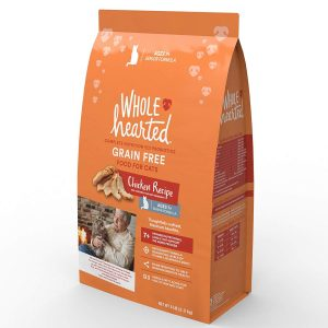 WholeHearted Grain Free Senior Chicken Recipe Dry Cat Food