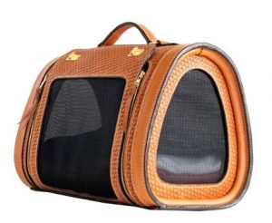 Woven Leather Pet Carrier From Becky Winston
